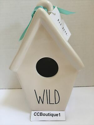 New with tag Rae Dunn WILD Birdhouse with Feather