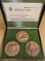 San Marino - Trittico Medaglie In Bronzo Conferenza Fao (riforma Agraria), 1979 -  - ebay.it