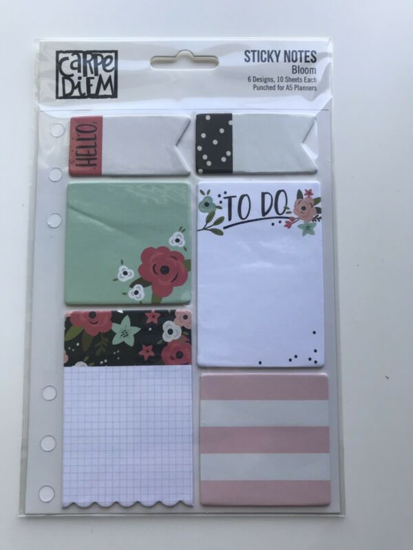 Carpe Diem Bloom Sticky Notes For A5 Planner
