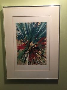 Listed canadian artist 1964 original work abstract