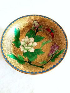CHINESE CLOISONNE HALL TABLE OR DRESSER TOP DISH