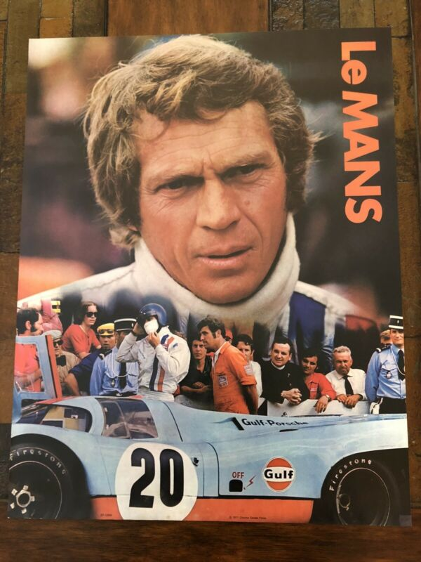 1971 LeMans Movie Poster Steve McQueen Gulf Porsche 917 Original
