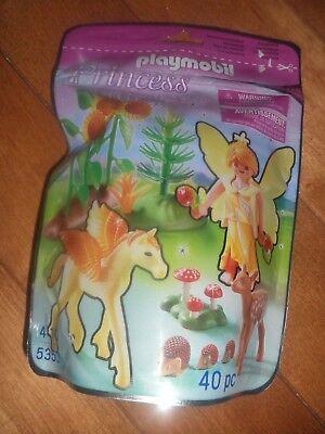 Playmobil Princess #5353 Autumn Fairy with Pegasus & Fawn 40 Pcs Sealed NEW