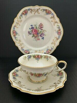 Rosenthal coffee set POMPADOUR Art Deco floral pattern with gold decoration from the 30s