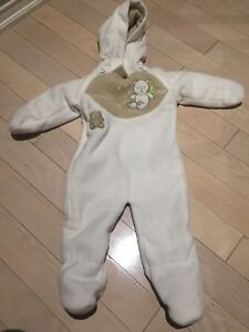 Brand New white 6mth old bunting suit fleece