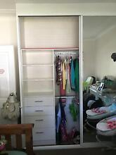 full glass duel door wardrobe white in colour great condition Rathmines Lake Macquarie Area Preview