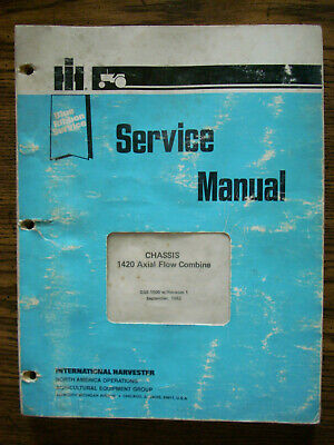 Ih Farmall International 1420 Axial Flow Combine Chassis Service Manual