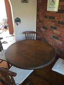 Wooden Round table with 4 wooden chairs Chatswood Willoughby Area Preview