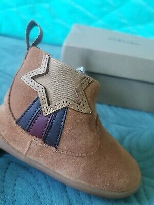 Clarks Roamer Flash T Tan Suede Leather Boots Shoes 4.5G baby girl/boy...