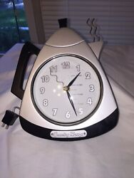 Vintage Country Breeze Coffee Pot Kitchen Wall Clock-battery Op-tested