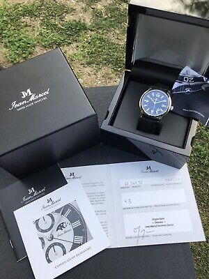 NOS Unworn Jean Marcel Clarus Limited Edition Swiss Made Stingray Strap Watch 43
