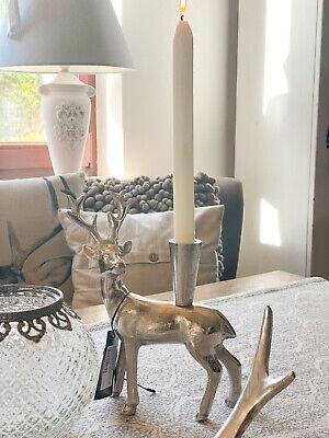♥ COLMORE ♥ Kerzenhalter HIRSCH ♥ Silber ♥ Weihnachten ♥ Aluminium online kaufen