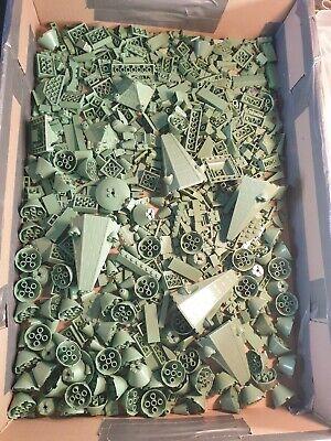 1KG LEGO SAND GREEN LOT OF LOOSE PIECES ETC HARRY POTTER HOGWARTS CASTLE