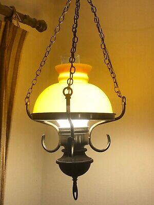 Vintage Brass 1963 Lightcraft Of California Farmhouse type Hanging Light