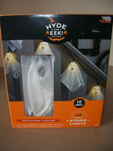 String of 10 Hyde & Eek LED Ghoul/Ghost Halloween Indoor/Outdoor Light Set