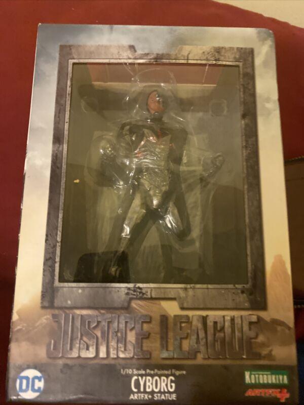 justice league movie statue cyborg