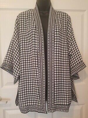 Max Studio [MSRP $88] Kimono Women Open top Light Jacket bathing-suit cover-up](Light Up Suit)