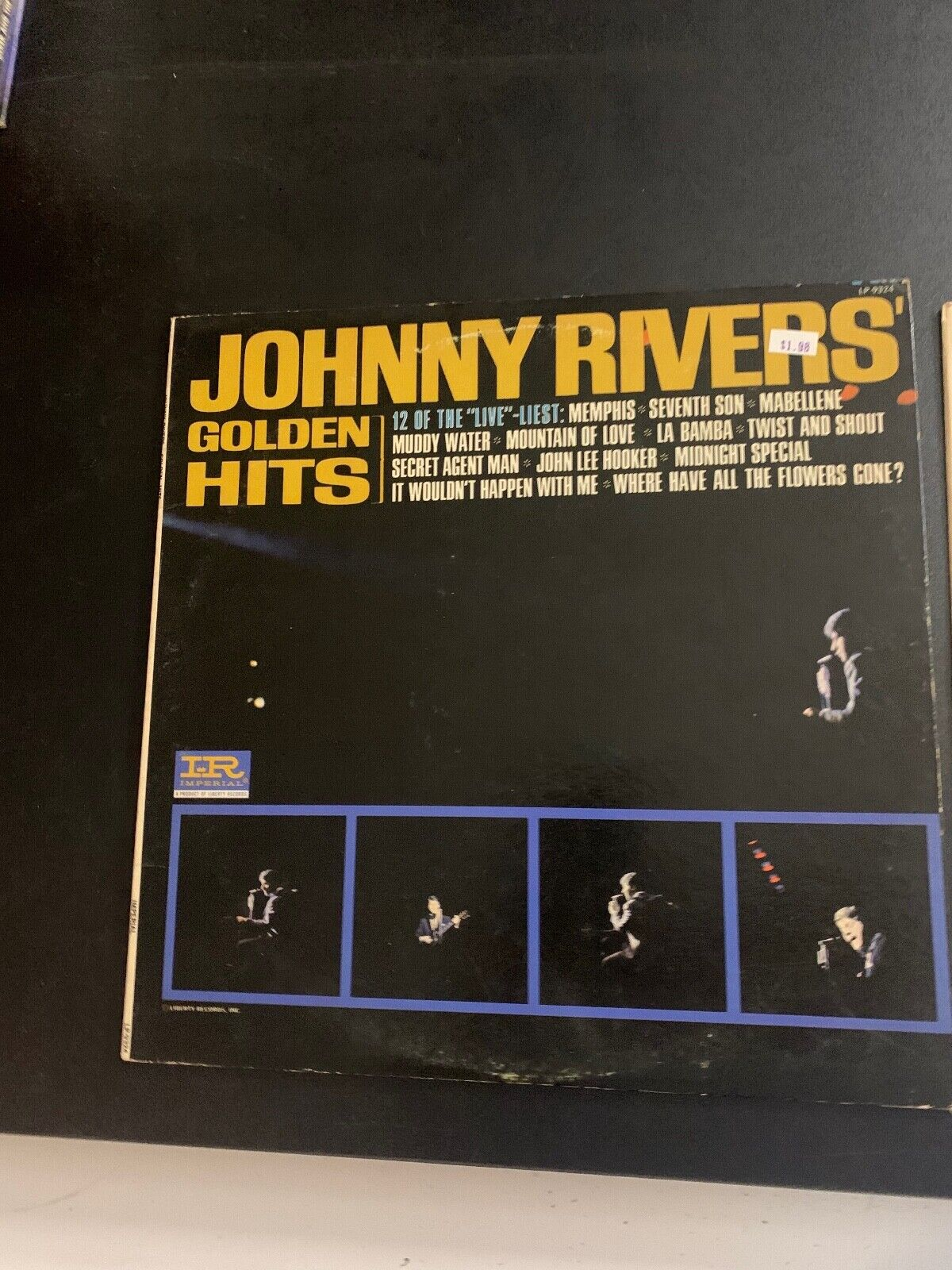 LP RECORD - JOHNNY RIVERS - GOLDEN HITS - IMPERIAL RECORDS - $9.99