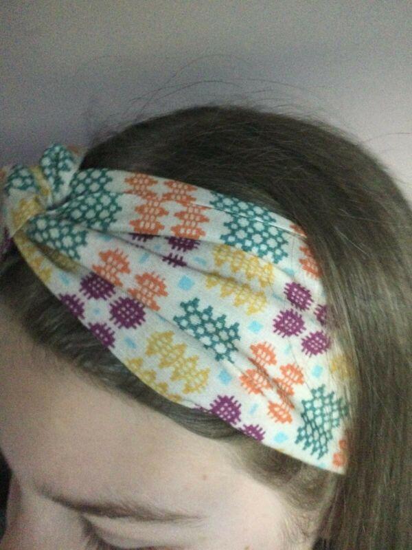 Brand+New+Welsh+Wool+Tapestry+Print+Turban+Headband+FREE+P%26P+100%25+Cotton+Multi