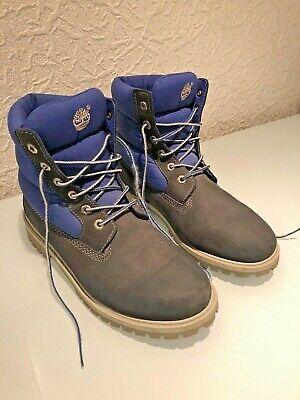 Timberland Damen , Boys Boots, blau, Rauhleder, Größe 38