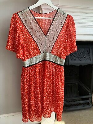 Vintage Red Mini Beach Ibiza Dress