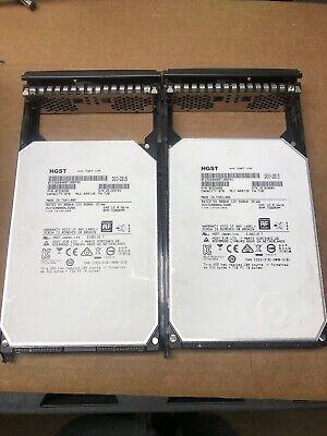 Lot Of 2 HGST 8TB 7200RPM3.5