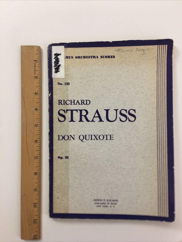 Kalmus Orchestra Scores No.132 Richard Strauss Don Quixote Op.35 PB Good Library