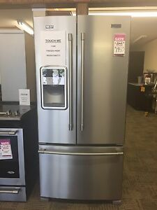Two door beautiful stainless steel fridge!