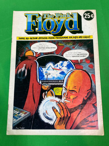 Pink Floyd 1974 Dark Side of the Moon Tour Program Comic Book RARE AS HELL