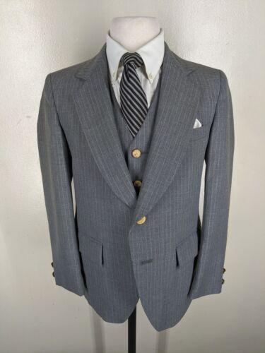 BOYS Vintage Pierre Cardin Suit With Vest 2 Btn Side Vents. 14 Husky.  Near Mint