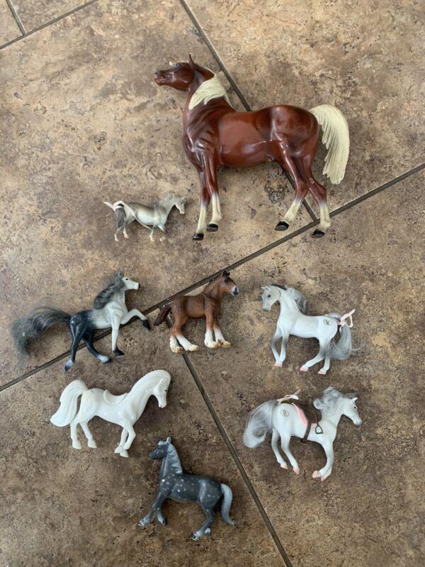 vintage toy horse lot