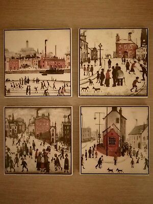 Vintage Tile Set 9.5x9.5 CM Made In Turkey Set Of 4