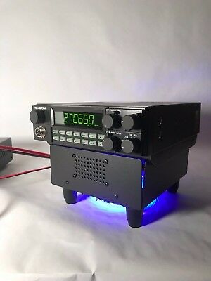 BLUE LED FAN KIT BASE STAND w/ Built In Ext Speaker RANGER RCI 2970 N2 N4 Radios