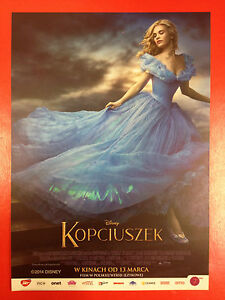 Lily James Cate Blanchett Richard Madden - Cinderella - Polish promo FLYER - <span itemprop=availableAtOrFrom>Gdynia, Polska</span> - Lily James Cate Blanchett Richard Madden - Cinderella - Polish promo FLYER - Gdynia, Polska