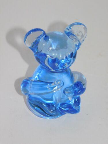 Blue Glass Koala Bear Figural Figurine Commemorative Fine Art Gallery