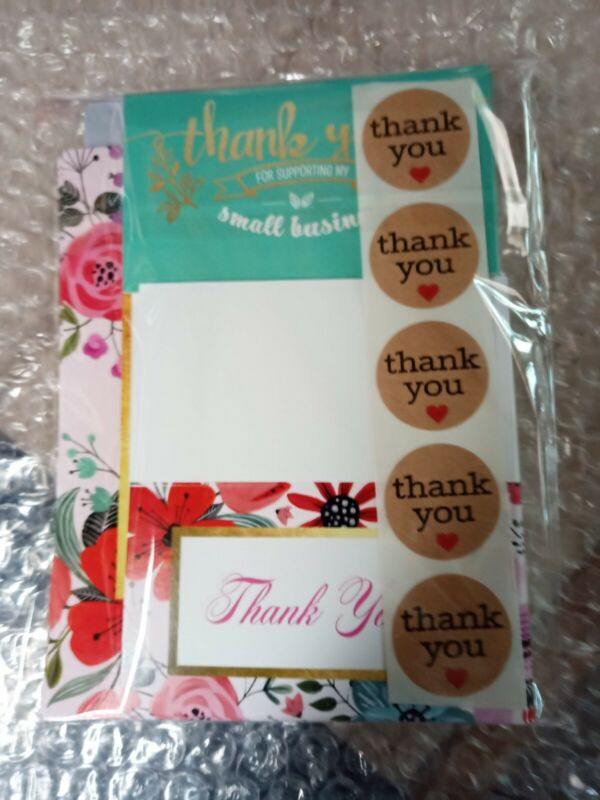 40 CUSTOM MADE THANK-YOU CARDS for SELLERS + FREE GIFT 🎁 PRETTY & PROFESSIONAL!