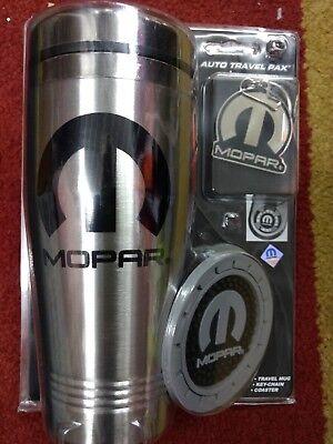 - Mopar Chrysler Auto Travel Pack Coffee Mug Coaster Keychain dodge