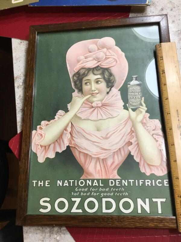 Vintage Advertising Sozodont Tooth Powder Sign Dentistry