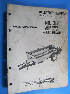 New Idea 217 Pto Manure Spreader Operators Manual