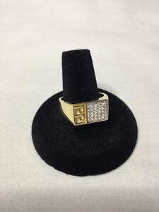 10K Gold Versace Style Men's Ring