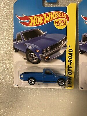 Lot Of 3 Hot Wheels Kmart Datsun 620 Blue 2014