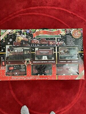 North Pole Express Christmas Train Set by EzTec Battery Operated Holiday Remote