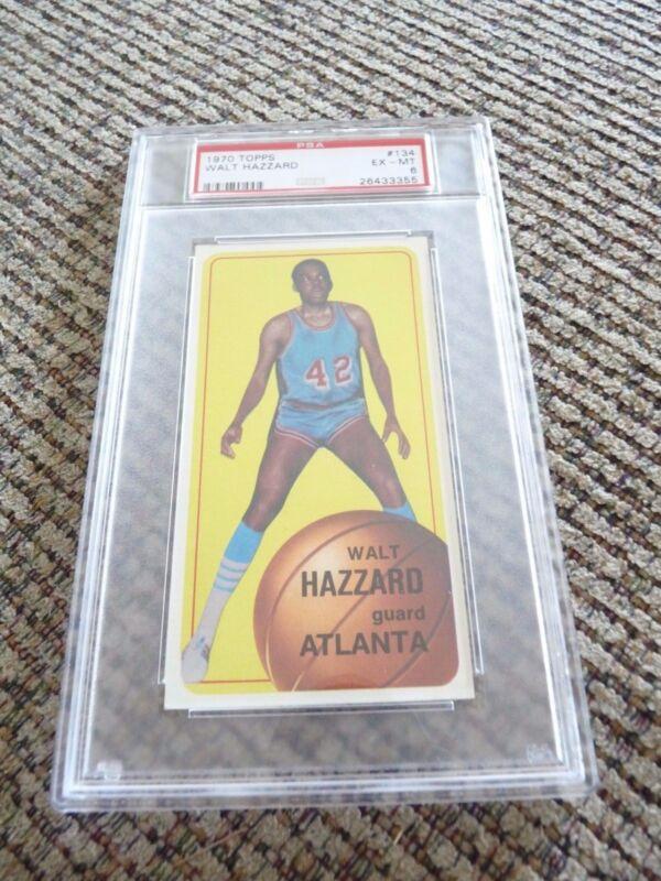 Walt Hazzard 1970 Topps Tall Boy #134 Basketball Card PSA Graded Slabbed EX-MT 6