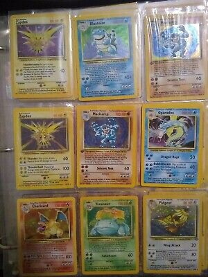 Original Pokemon Lot Base Set Jungle,Fossil,HOLO,SHADOWLESS,1ST EDITION 15 Cards