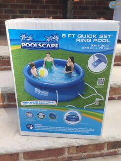 Pool - inflatable ring pool 8ft diameter