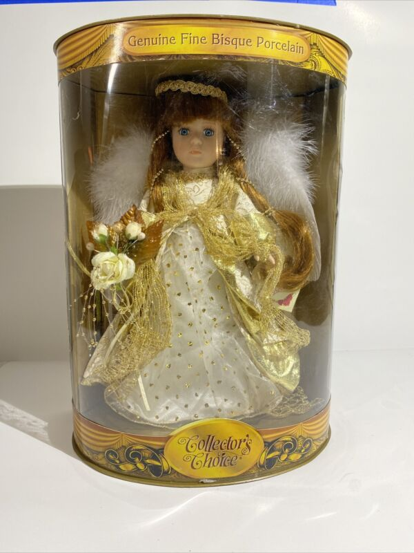 """Porcelain Angel Doll Natalie Feather Wings 15"""" K Mart Exclusive"""