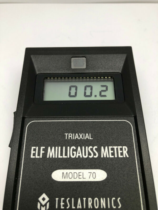 Teslatronics Triaxial Elf Milligauss Meter Model 70 Made in USA Great Condition