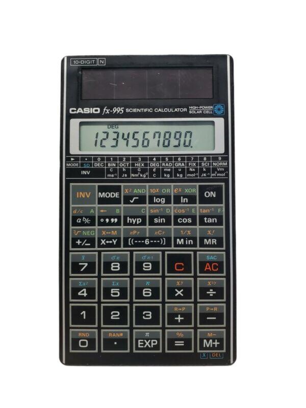 RARE Vintage Casio fx-995 Scientific Calculator HIGH-POWER SOLAR CELL 10-Digit