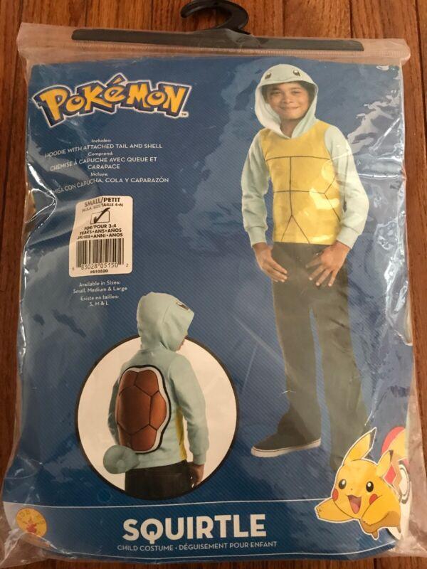 Boy's Halloween Costume Theater Rubies Pokemon Squirtle Hoodie Pikachu Size  4-6