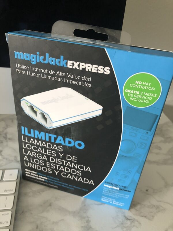 Magic Jack EXPRESS Digital Phone VoIP Service Includes 3 Months of Service NEW